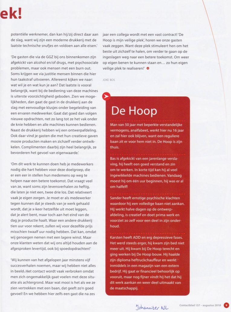 2018 Artikel DH Drukkerij JohanniterNL 0002