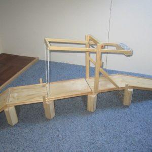 Speelgoed houten ophaalbrug