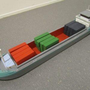 Speelgoed houten containerschip (110 x 18 cm)