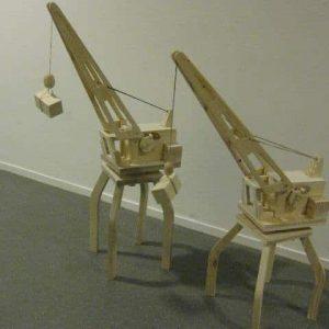 Speelgoed houten kraan