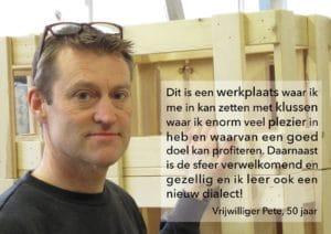 Quote vrijwilliger Pete