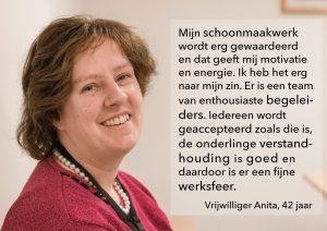 Quote vrijwilliger Anita
