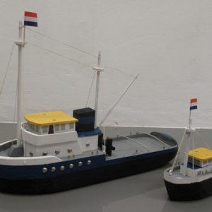 Speelgoed Houten Sleepboot (55 x 12 cm of 20 x 8 cm)