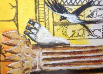 Adriaan 1 Boazpilaar met zwaluwnest