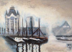 Adriaan 15 Rotterdam in de mist