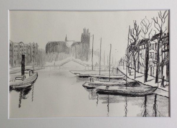 Adriaan 8 Dordrecht in de winter