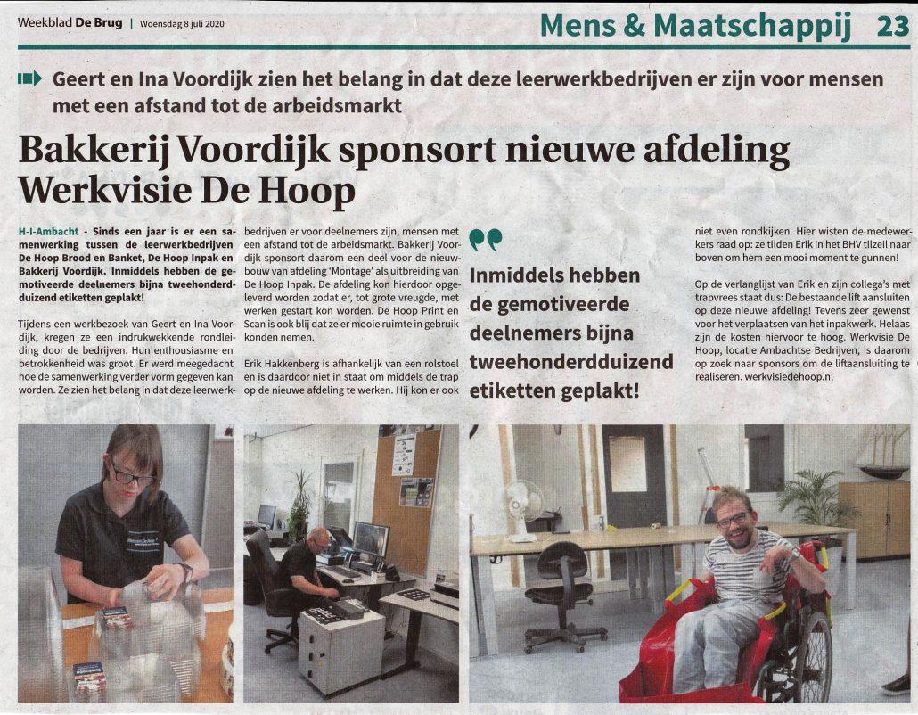 Bakkerij Voordijk Sponsort 202007