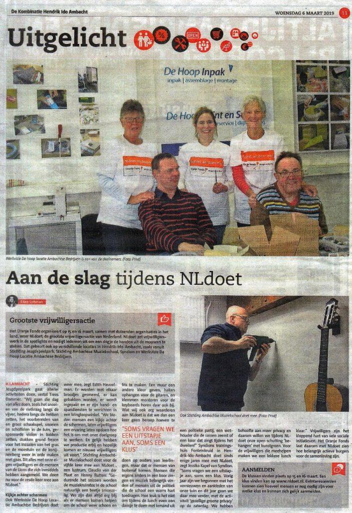 NL Doet Ambachtse Bedrijven De Kombinatie 201903