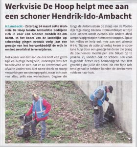 Persbericht WDH helpt mee NL Schoon 2018