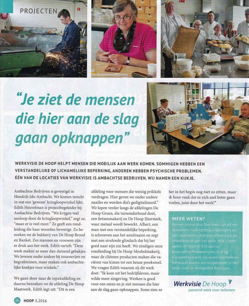 Werkvisie De Hoop Hoopmagazine 201603