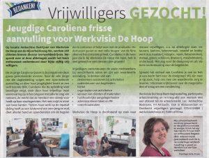 Caroliena vrijwilliger Brug 202007