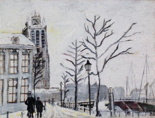 Adriaan 18 Dordrecht De Grote Kerk in wintertijd