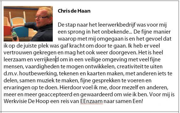 Chris zijn verhaal
