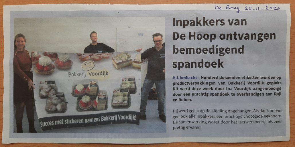 Bakkerij Voordijk Werkvisie De Hoop