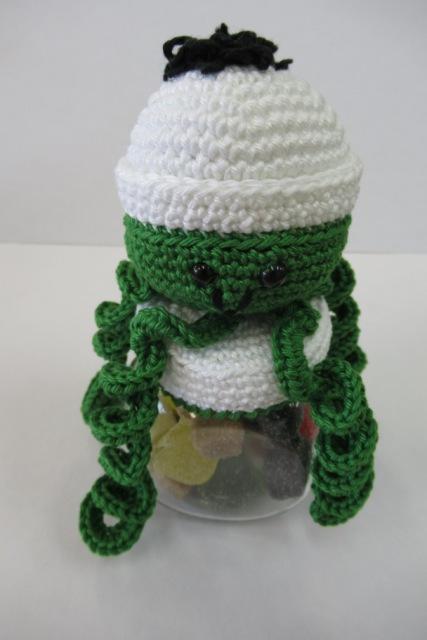 Snoeppot inktvis groen