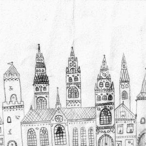 Kaarten van Hoop   Arie 8 stuks stadsgezichten - allen
