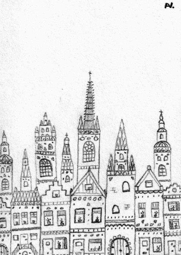 Kaart van Hoop stadsgezichten arie