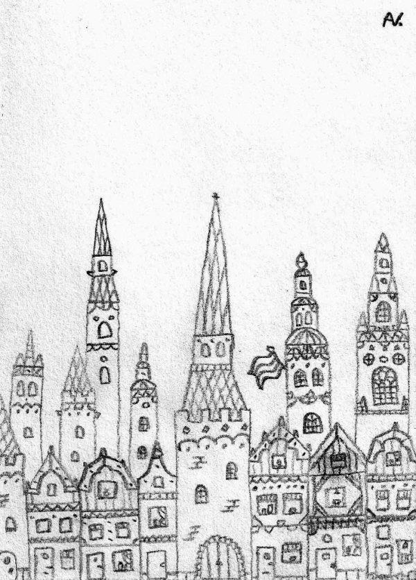 kaart van hoop stadsgezicht arie