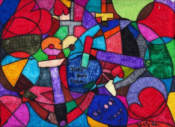kaart van hoop geloof hoop liefde