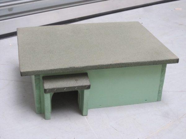 Luxe egelhuis egelhok met asfalt dakbedekking (55x35x20cm) - De Hoop Meubelmakerij
