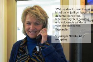 Quote vrijwilliger Nelleke