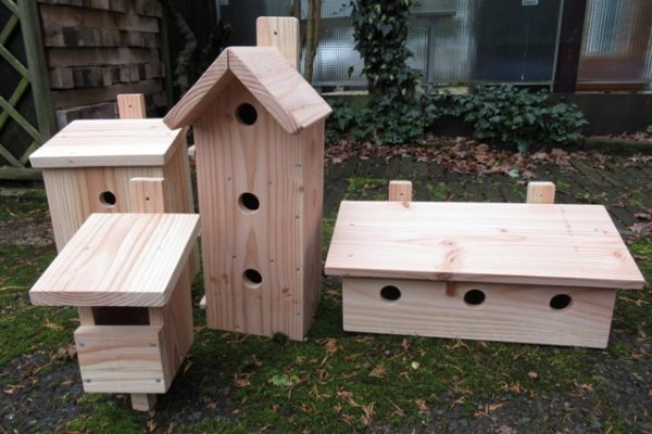 Houten vogelhuis nestkast allerlei maten - De Hoop Meubelmakerij