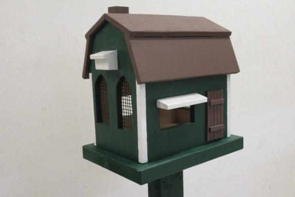 Houten vogelvoederhuis allerlei maten - De Hoop Meubelmakerij
